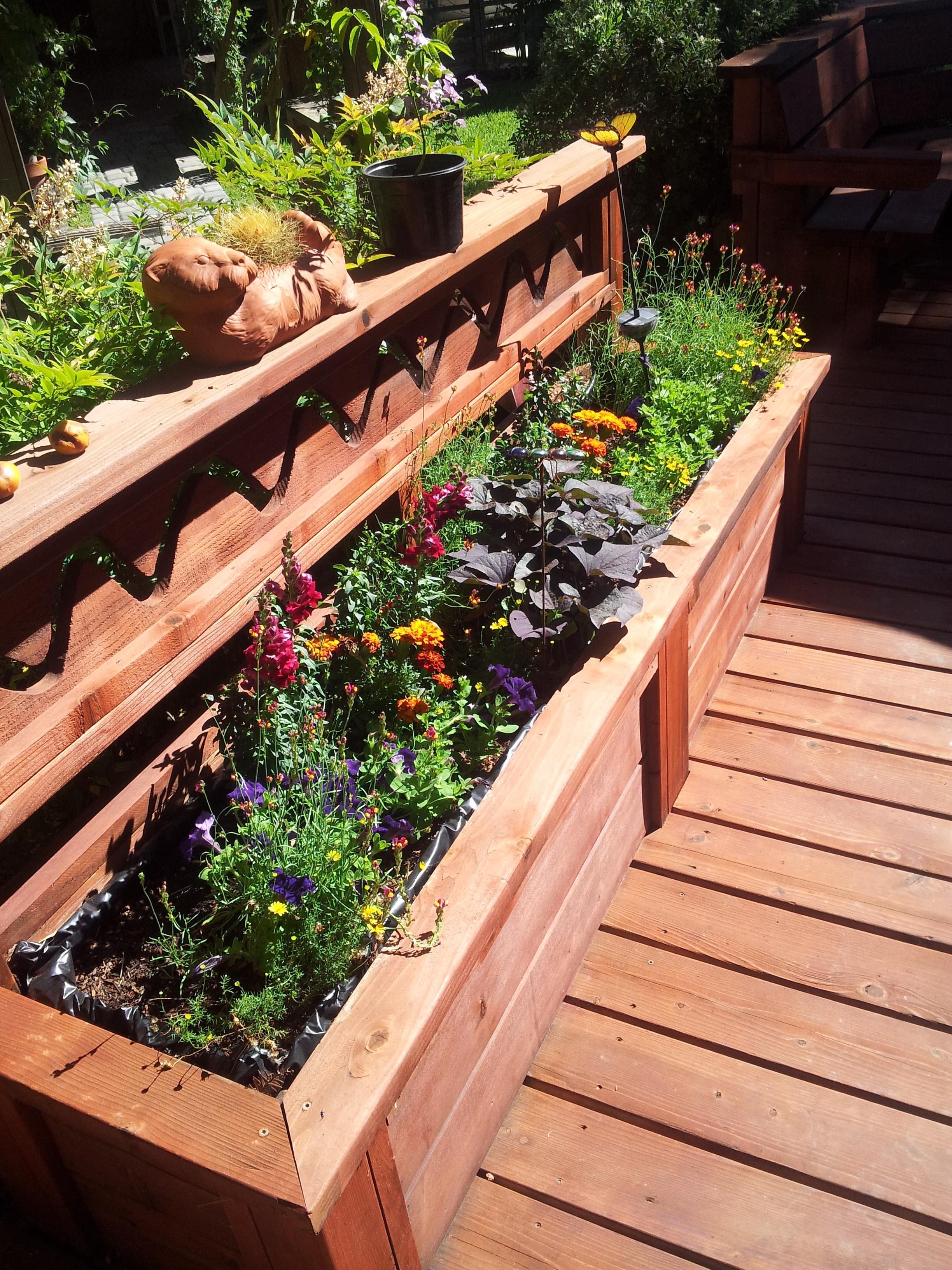 Wood wooden deck planters pdf plans for Wood deck plans pdf